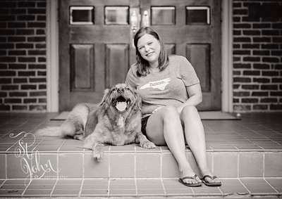 2016 July Kristin Burks and Cooper-170 BW