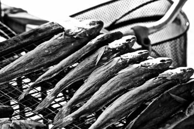 Fish drying, China
