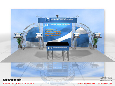 LTI, Truss System 10x20 Concept Rendering http://expodepot.com/truss-displays-c-467.html