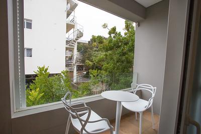012 Laanhof Studio Apartment 2 Outside Patio view towards town