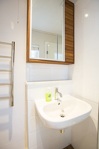 03 2 Bathroom view with towel rail and basin