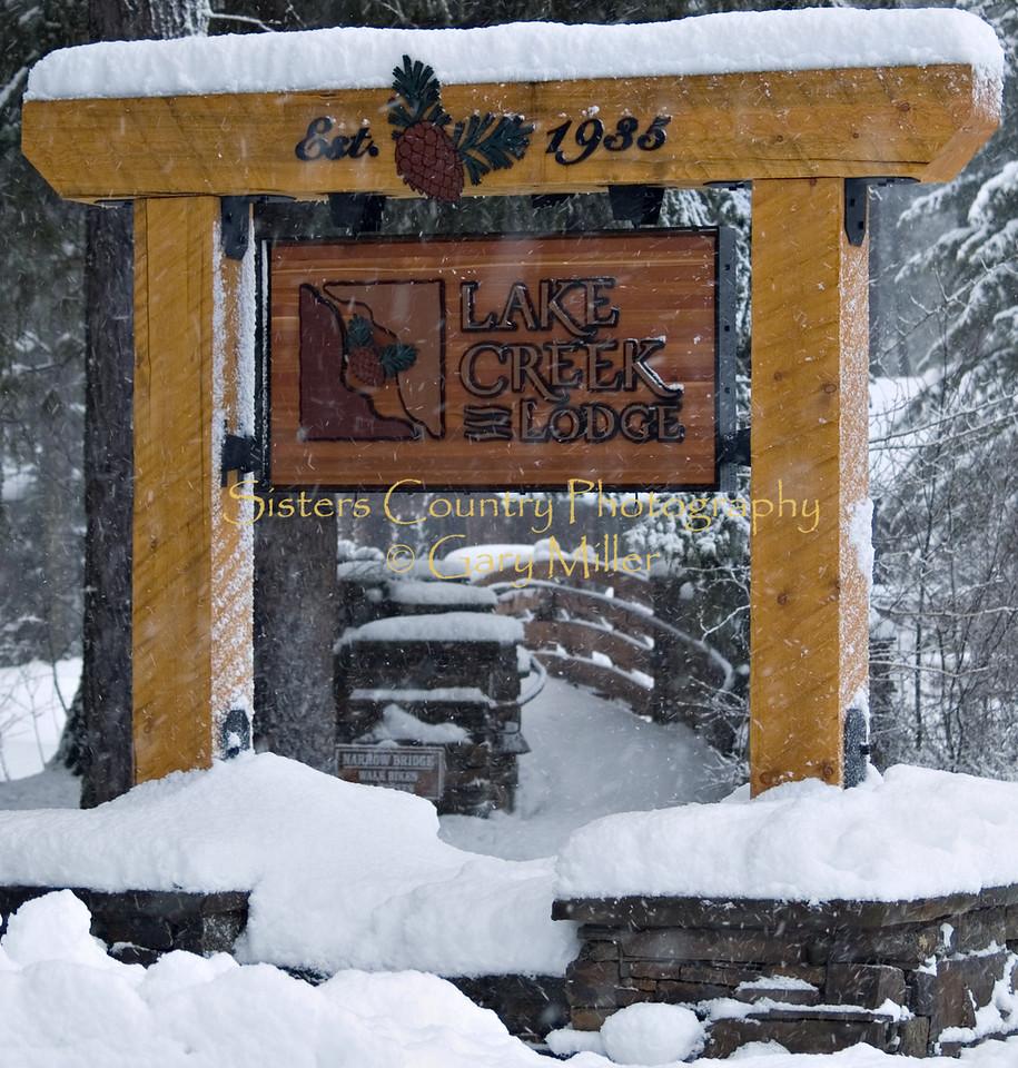 Lake Creek Lodge, Camp Sherman, Oregon - Winter 2007 - Photography by Gary Miller