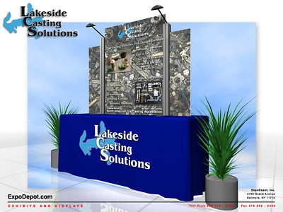 Lakeside Casting Solutions,  Square Topper  Rendering http://expodepot.com/table-top-displays-c-66.html