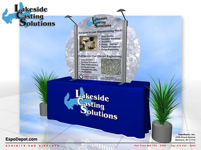 Lakeside Casting Solutions, Circular Topper  Rendering http://expodepot.com/table-top-displays-c-66.html