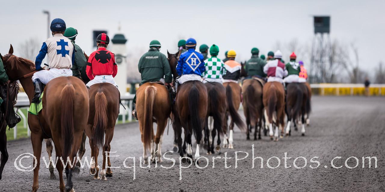 Flak runs in an Maiden race at Keeneland 4.12.2013