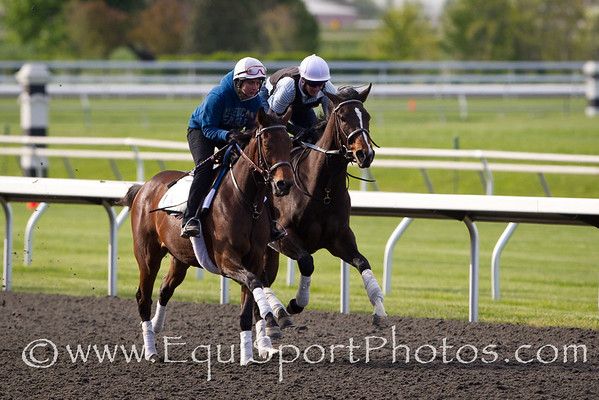 Psalm Singer (inside) at Keeneland 4.10.2012.