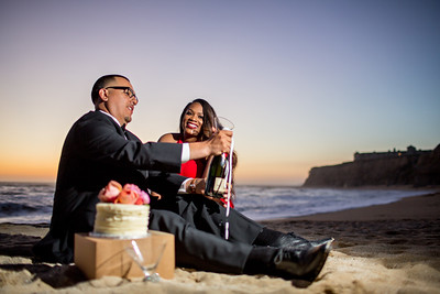 Half moon bay Ritz Carlton engagement photos - Lavette and Francisco more photos-20