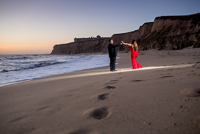 half moon bay engagement photos, Ritz Carlton engagement photos, Huy Pham Photography, Lavette and Francisco engagement photos, Beach enagement photos