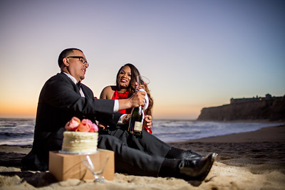 Half moon bay Ritz Carlton engagement photos - Lavette and Francisco more photos-19