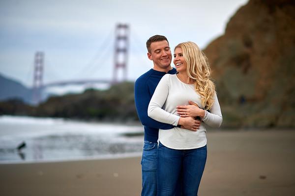 Lindsey & Kurt engagement portraits / Baker beach SF