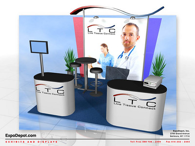 Live Tissue Connect, Alumalite 10' Wave Rendering http://expodepot.com/alumalite-displays-c-360.html