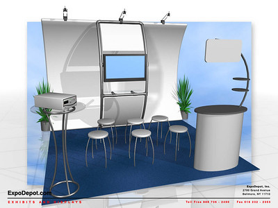 Live Tissue Connect, Entasi Vertical Curve w/ Stand-Off Rendering http://expodepot.com/entasi-showcase-display-c-142.html