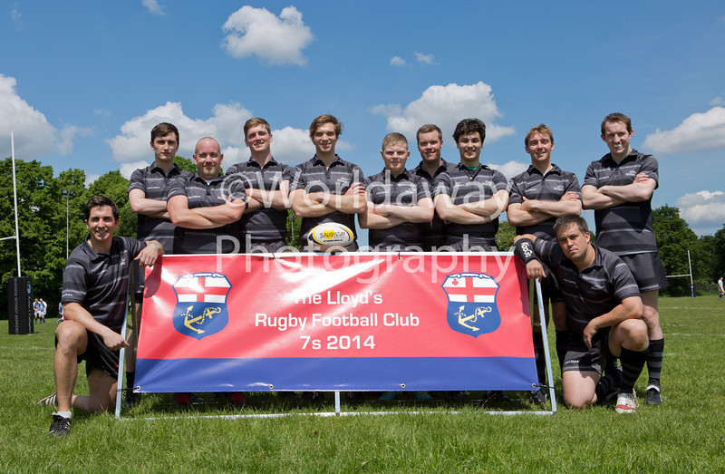 Lloyd's Rugby 7's Tournament. Richmond Athletic Ground. 15th May 2014. Team: Miller