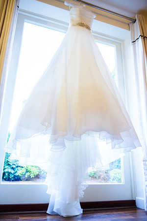 Wedding Dress Hanging At Netherstowe House Lichfield