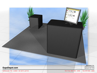 Lyngsoe Systems, Counter Options Rendering   http://expodepot.com/counters-cabinets-c-34.html