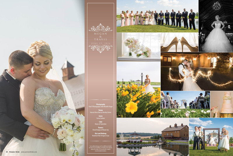Megan and Travis's Harvest View Barn Wedding day