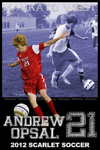 Andrew Opsal 12 Soccer Poster
