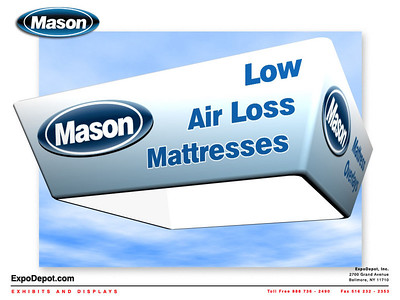 Mason Medical, Assorted Hanging Tapered Square Renderings http://expodepot.com/hanging-fabric-structures-c-187.html