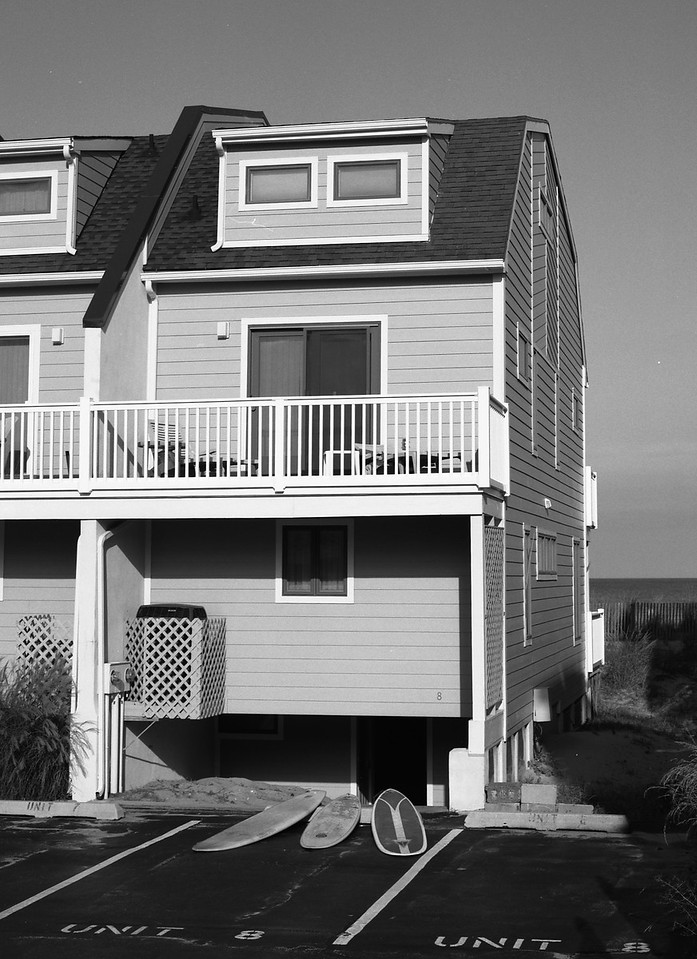 Dewey Beach House. Front View. Please note proximity to ocean !! We are right on the BEACH !!