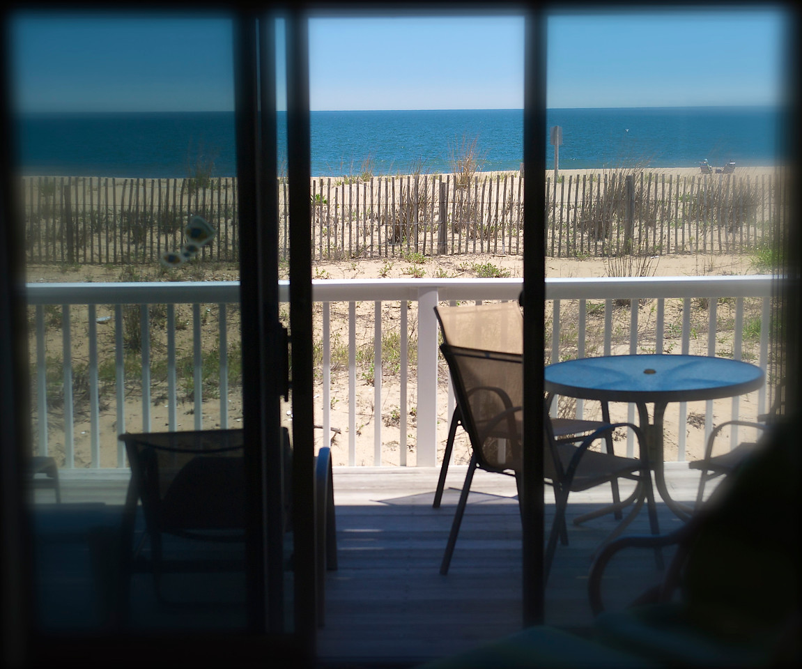Living room deck and dunes.