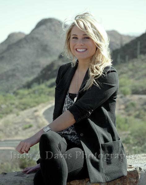 Senior Portraits 3286 Gates Pass, Tucson, Arizona, Judy A Davis Photography