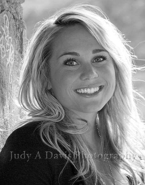 Senior Portraits 3344bw Gates Pass, Tucson, Arizona, Judy A Davis Photography
