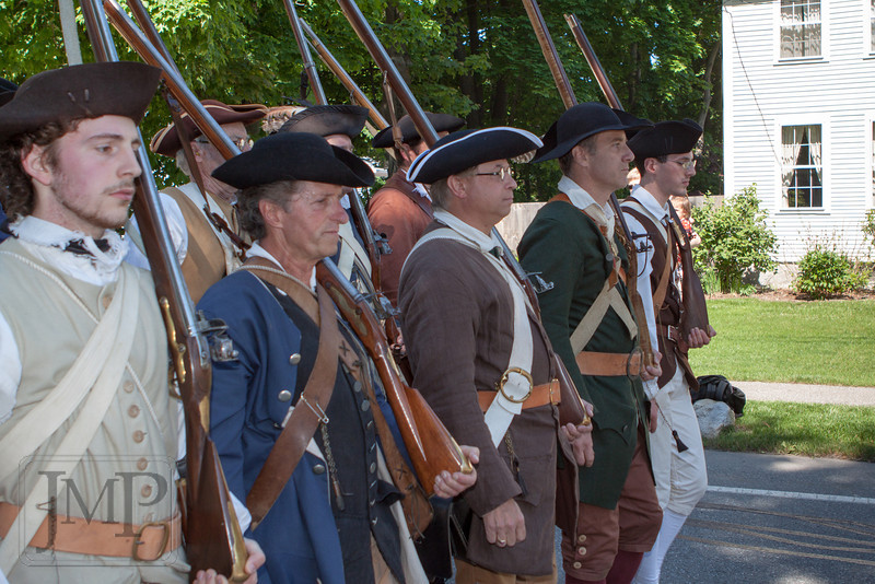 """Westford Minute Men - The Westford Minute Men marching in the town's Apple Blossom Festival parade on May 19th, 2012.  Find them at  <a href=""""http://www.westford1775.org"""">http://www.westford1775.org</a>"""