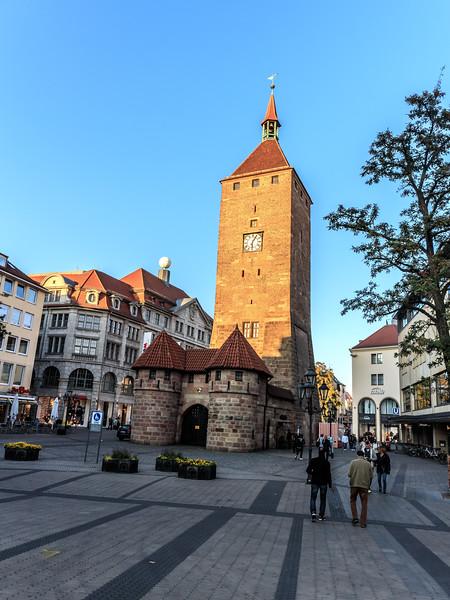 the White Tower-Weisser Turm-Jacobsplatz-Nuremberg