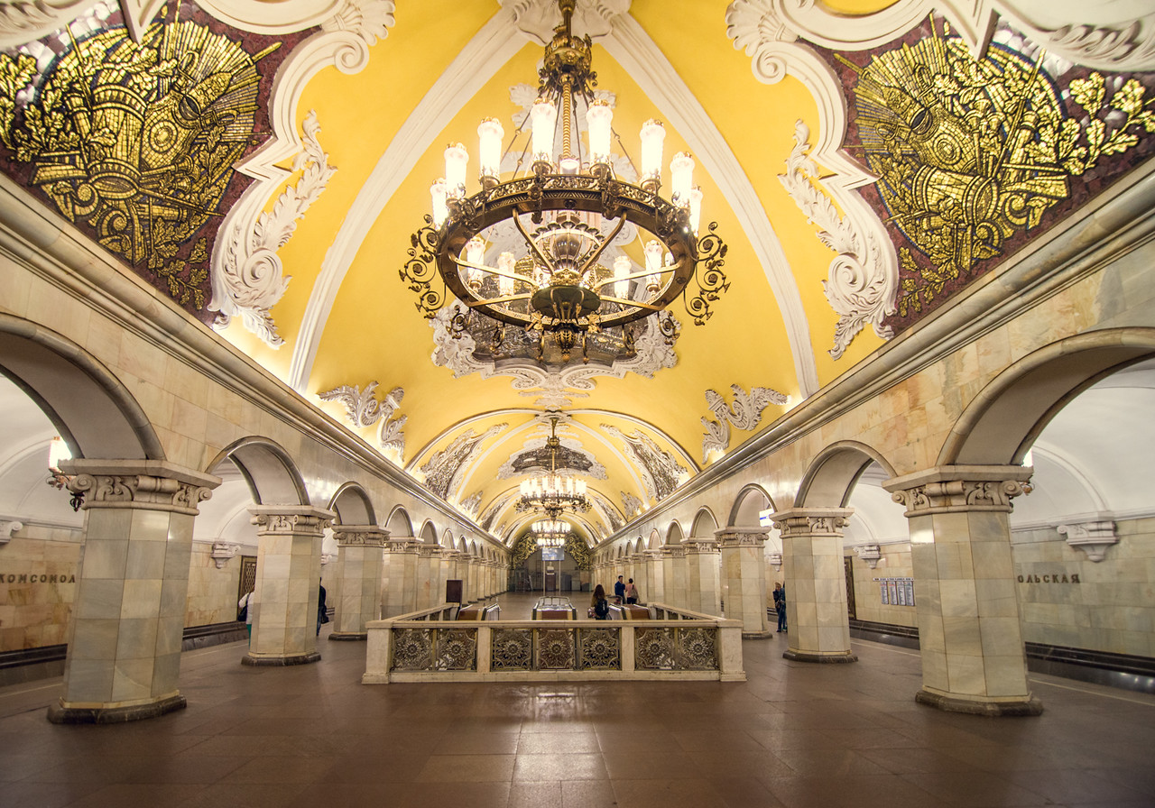 Komsomolskaya Metro, Moscow