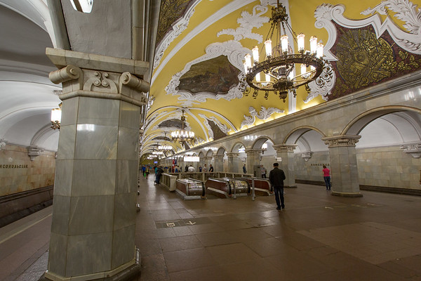 Yes, the underground Metro stations really look like this - all different too. You're not really suppose to take pictures, but it is now recently tolerated, so being inconspicuous kept me out of trouble.