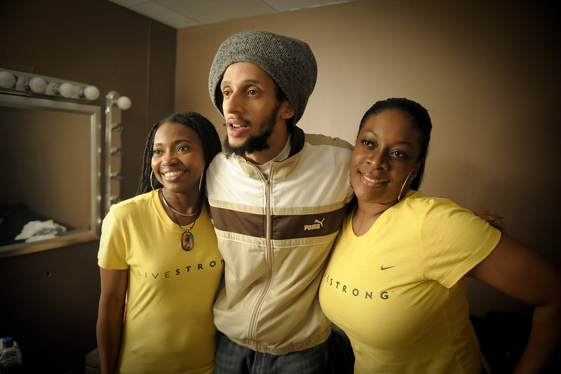 "Julian Marley<br /> Kingston, Jamaica<br /> <br /> <br /> This photo is being used by Lance Armstrong's company, Livestrong, and can be seen here:  <br /> <a href=""http://www.flickr.com/photos/livestrongarmy/4306862902/in/photostream/"">http://www.flickr.com/photos/livestrongarmy/4306862902/in/photostream/</a>"
