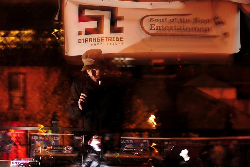 DJ Chorizo Funk<br /> Austin, TX<br /> <br /> SXSW showcase by Wax Poetics, Dubspot, Soul of the Boot Entertainment, StrangeTribe Productions & Maker's Mark.