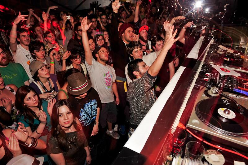 Stones Throw 45 Live :: Austin, TX<br /> <br /> SXSW Stones Throw showcase featuring Madlib, Peanut Butter Wolf, J.Rocc, DJ Rhettmatic, Dam-Funk, Amir & 14kt.