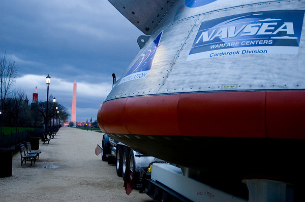 NASA's Orion CEV PORT test article on the National Mall in Washington, DC