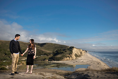 Half Moon Bay Engagement Session - Nadia and Atif