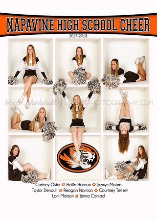 Napavine HS Cheer 5x7