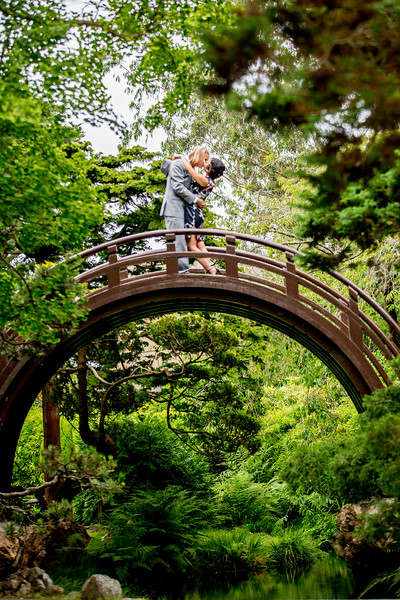 San Francisco Enage,ent Photos, SF Japanese tea garden engagement session, Sir Francis Drake Hotel engagement photos, Huy Pham Photography, San Francisco Wedding Photographers, Nate and Loi, Balmy Valley Engagement photos