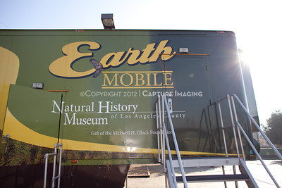 1202026-044        LOS ANGELES, CA - FEBRUARY 24: The NHM Earthmobile at Milagro Charter Elementary School on February 24, 2012 in Los Angeles, California. (Photo by Ryan Miller/Capture Imaging)