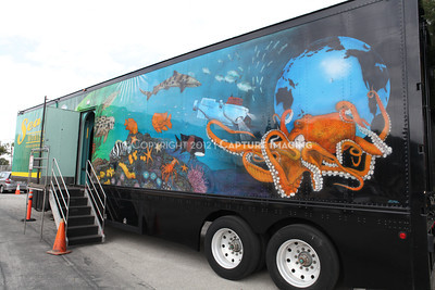 1202026-025        CARSON, CA - FEBRUARY 27: The NHM Seamobile at Carnegie Middle School on February 27, 2012 in Carson, California. (Photo by Ryan Miller/Capture Imaging)