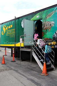 1202026-028        CARSON, CA - FEBRUARY 27: The NHM Seamobile at Carnegie Middle School on February 27, 2012 in Carson, California. (Photo by Ryan Miller/Capture Imaging)