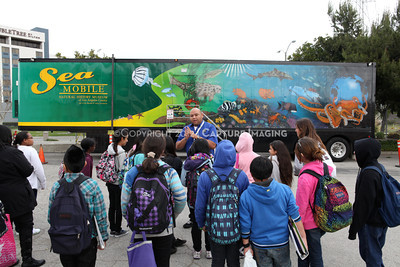 1202026-005        CARSON, CA - FEBRUARY 27: The NHM Seamobile at Carnegie Middle School on February 27, 2012 in Carson, California. (Photo by Ryan Miller/Capture Imaging)