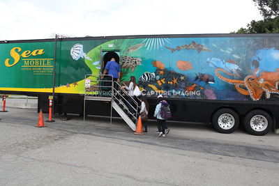 1202026-017        CARSON, CA - FEBRUARY 27: The NHM Seamobile at Carnegie Middle School on February 27, 2012 in Carson, California. (Photo by Ryan Miller/Capture Imaging)