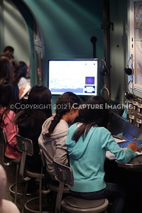 1202026-041        CARSON, CA - FEBRUARY 27: The NHM Seamobile at Carnegie Middle School on February 27, 2012 in Carson, California. (Photo by Ryan Miller/Capture Imaging)