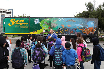 1202026-003        CARSON, CA - FEBRUARY 27: The NHM Seamobile at Carnegie Middle School on February 27, 2012 in Carson, California. (Photo by Ryan Miller/Capture Imaging)