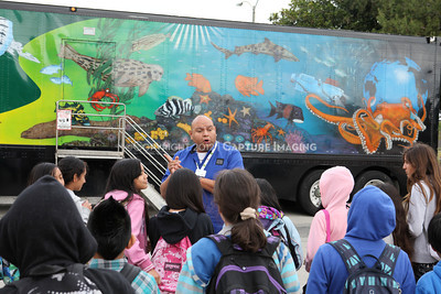 1202026-011        CARSON, CA - FEBRUARY 27: The NHM Seamobile at Carnegie Middle School on February 27, 2012 in Carson, California. (Photo by Ryan Miller/Capture Imaging)