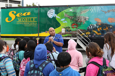 1202026-008        CARSON, CA - FEBRUARY 27: The NHM Seamobile at Carnegie Middle School on February 27, 2012 in Carson, California. (Photo by Ryan Miller/Capture Imaging)