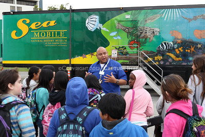 1202026-006        CARSON, CA - FEBRUARY 27: The NHM Seamobile at Carnegie Middle School on February 27, 2012 in Carson, California. (Photo by Ryan Miller/Capture Imaging)