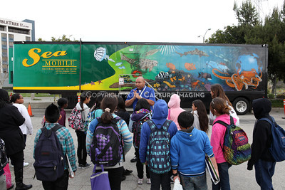 1202026-004        CARSON, CA - FEBRUARY 27: The NHM Seamobile at Carnegie Middle School on February 27, 2012 in Carson, California. (Photo by Ryan Miller/Capture Imaging)