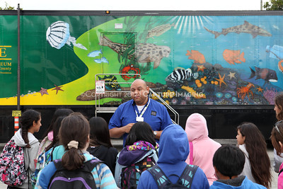 1202026-001        CARSON, CA - FEBRUARY 27: The NHM Seamobile at Carnegie Middle School on February 27, 2012 in Carson, California. (Photo by Ryan Miller/Capture Imaging)