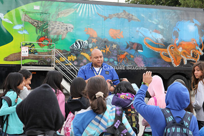 1202026-013        CARSON, CA - FEBRUARY 27: The NHM Seamobile at Carnegie Middle School on February 27, 2012 in Carson, California. (Photo by Ryan Miller/Capture Imaging)